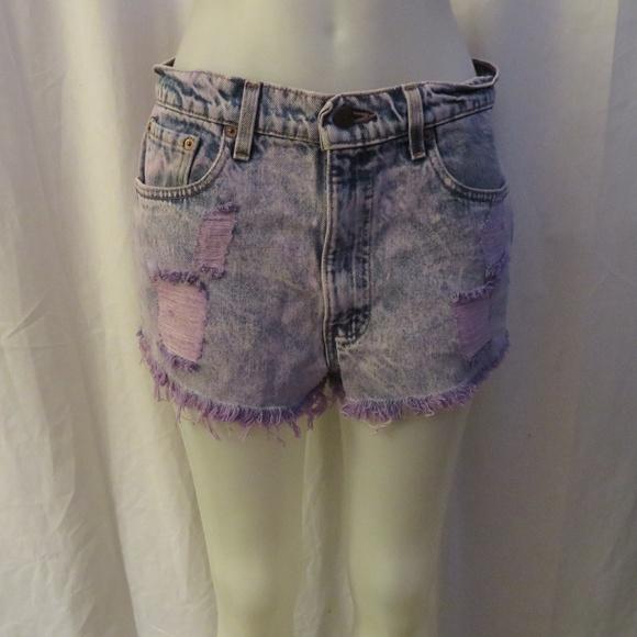 6880ebfba9 Levi's Shorts | Levis 550m Relaxed Fit Purple Acid Wash 34 | Poshmark